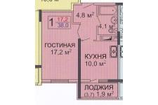 Продается 1к. квартира, село Мирное,